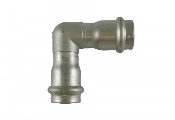 9090 22mm Winkel 90° i/i NIROSAN PRESSFITTINGS