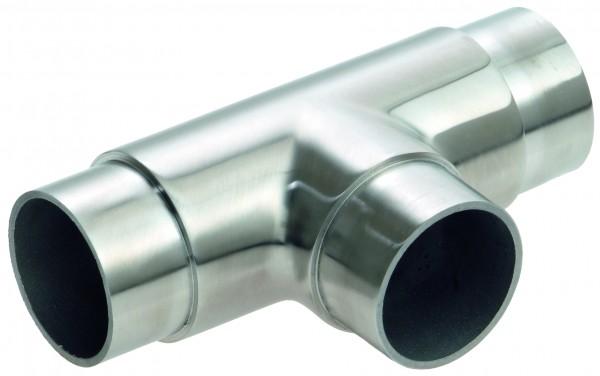 VA T-Stück für Rohr 42,4x2,0mm geschliffen, AISI 304