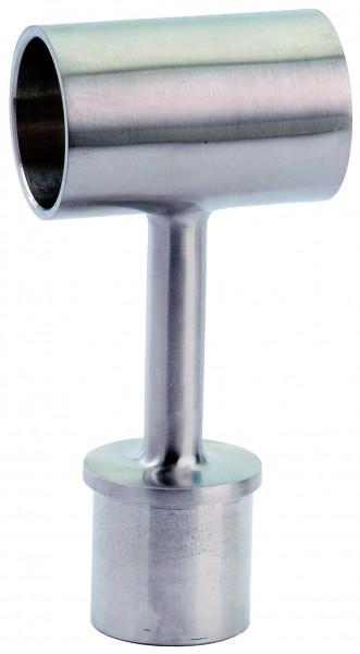 VA T-Stück (Rohrstütze) für Holzhandlauf Ø45mm