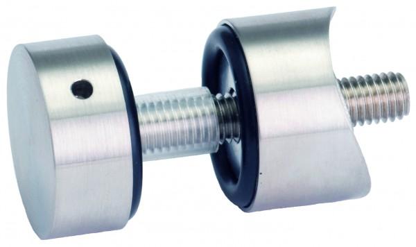 V4A Plattenhalter verstellbar geschliffen , für Rohr 42,4mm