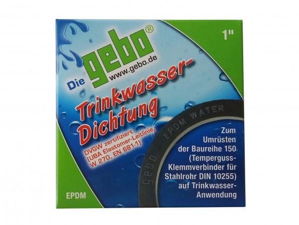 "GEBO Gummiformring aus EPDM 1"" DVGW-Trinkwasser-Dichtung"