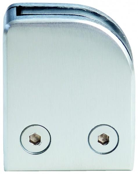 VA Eck-Glashalter (53x60mm) für Rohr 42,4 (links)