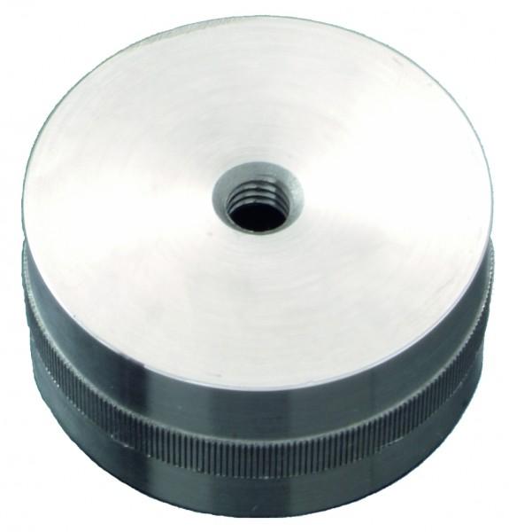 VA Verbindungsteil mit Rändel, für Holzhandlauf Ø45mm
