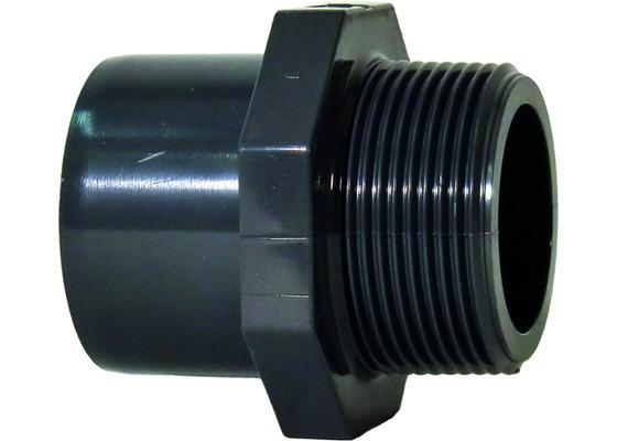 "Überg.-Mu.-Nippel d50-63 x 2"" AG PN16 Übergangsfitting aus PVC-U"