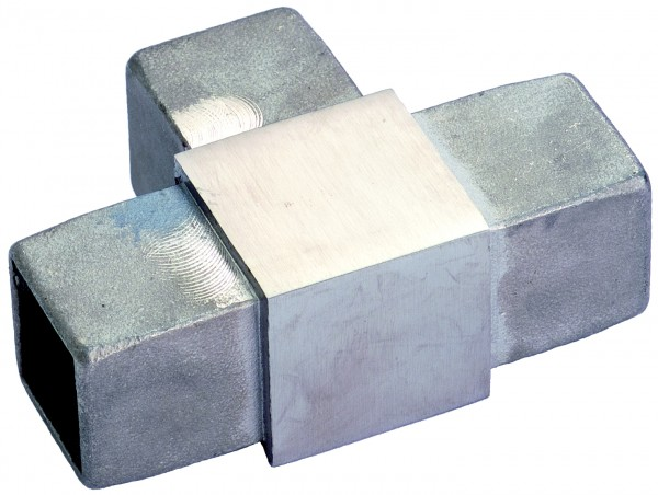VA T-Stück für Vierkantrohr 40x40x2mm