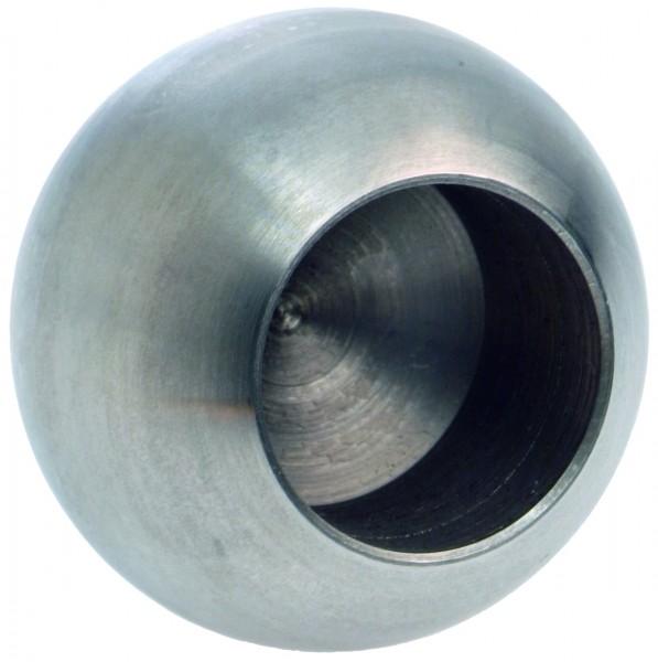 Edelstahlvollkugel Ø20mm, mit einseitiger Sacklochbohrung 12,2mm