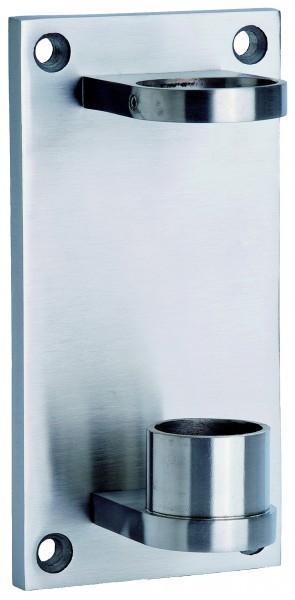 V4A Rohrhalter für Rohr 42,4x2mm Anschraubplatte: 180x90x10mm