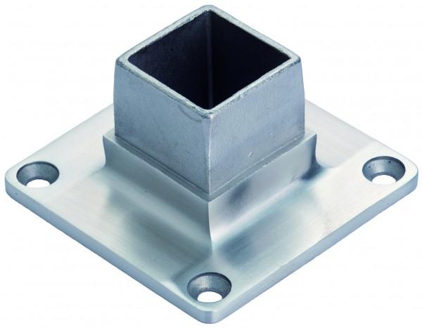 VA Steck Boden-/Wandflansch für 40x40x2mm Vierkantrohr