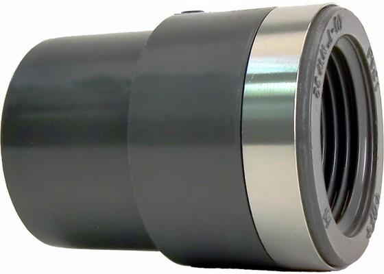 """Reduktions-Nippel d25x1/2"""" IG PN16 Übergangsfitting aus PVC-U"""