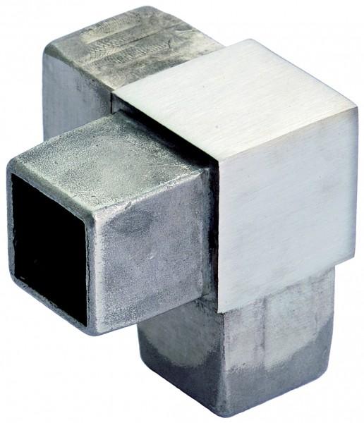 VA Eckverbinder 90° für Vierkantrohr 40x40x2mm