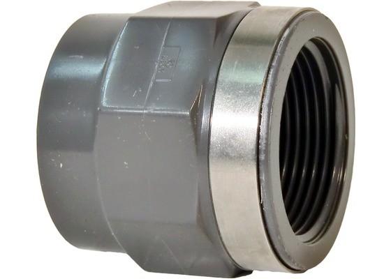 "Überg.-Muffe d20x1/2"" IG PN16 Übergangsfitting aus PVC-U"