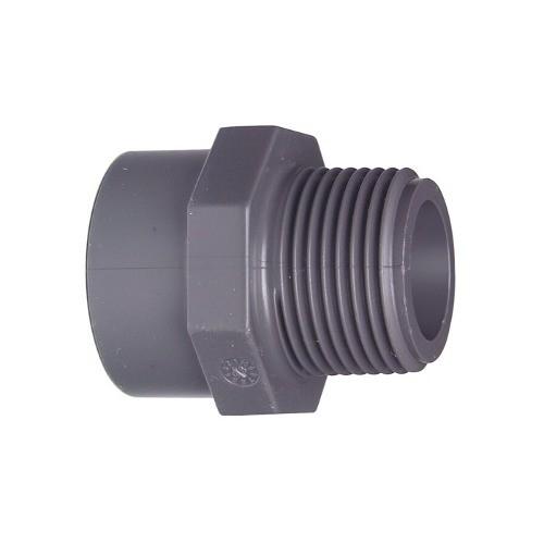 PVC-U Übergangs-Muffennippel AG 2