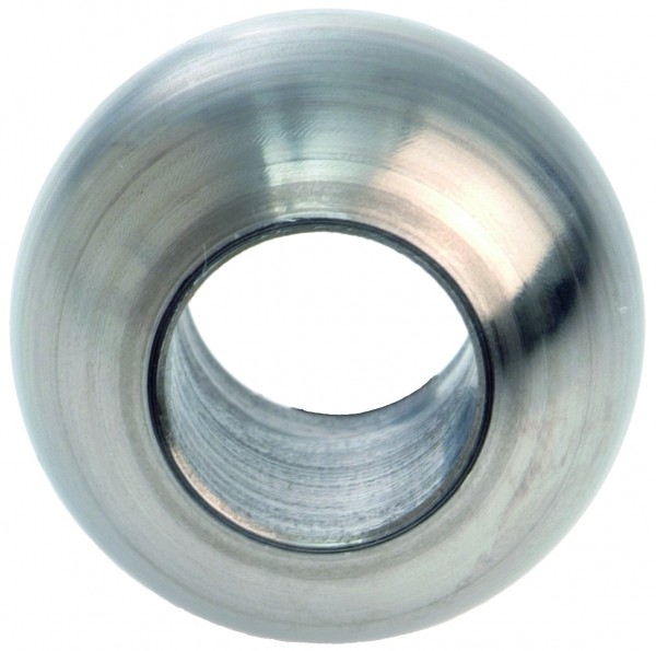Edelstahlvollkugel Ø25mm, mit Durchgangsbohrung 12,2mm