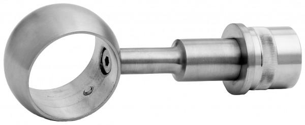 VA Rohrstütze gerade mit Ring für Rohr 42,4mm LP 81