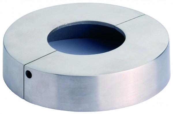 VA Rosette (rund) 2-teilig für Rohr 42,4