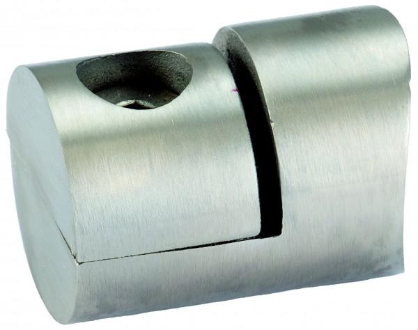 V4A Lochblechhalter für Blechstärken 1,0-3,0mm für Rundrohr 42,4mm
