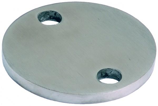 Edelstahlronde AISI 304 Ø100x6mm 2 Außenbohrungen 11mm einseitig K240 LP 33