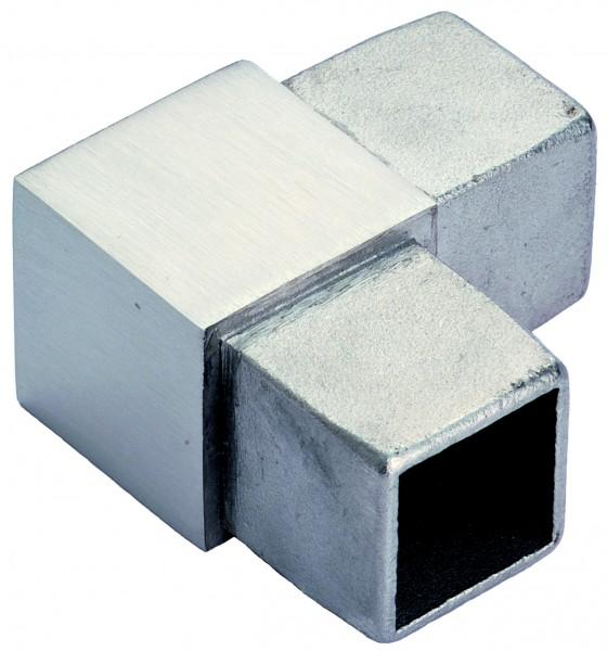 VA Eckbogen 90° für 40 x 40 x 2,0mm Vierkantrohr