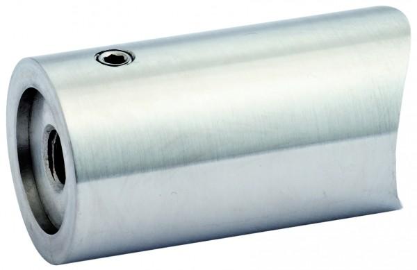 V4A Abstandshalter zweiteilig, gerader Anschluss für Rohr 42,4mm