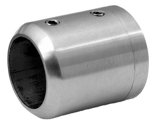 V4A Verbinder für senkr./waag. Montage für geraden Anschluß, Bohrung: 33,7mm