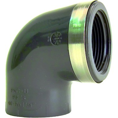 "Überg.-Winkel 90° d50x11/2"" IG PN16 Übergangsfitting aus PVC-U"