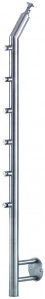 VA-Wand-Geländerpfosten 42,4x2mm inkl. 6 Traversenhaltern L=1200mm