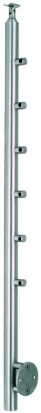 VA-Wand-Geländerpfosten, inkl. 6 Traversenhaltern, Wandanker und Handlaufstütze, L=1200mm