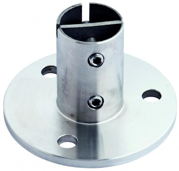V4A Bodenanker 100x6mm, für Rohr 42,4x2,0mm AISI316