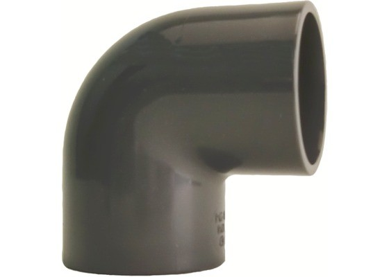 PVC-U Winkel 90° d40 PN16 Klebefitting, hart